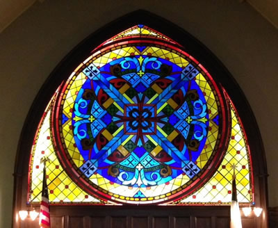 Rose window of Little Stone Church