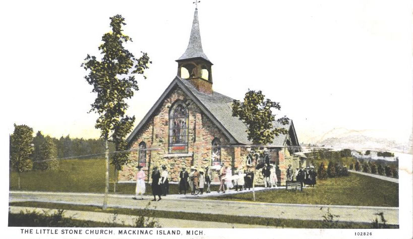 Old Postcard of Little Stone Church