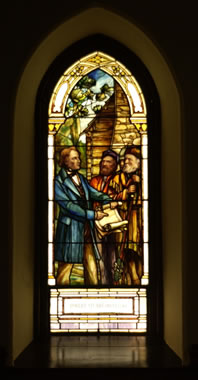 Stained Glass Window at Little Stone Church